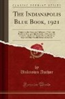 Unknown Author - The Indianapolis Blue Book, 1921