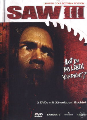 Saw 3 (2006) (Collector's Edition, Limited Edition, Mediabook, Uncut, 2 DVDs)