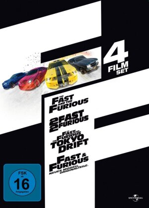 The Fast and the Furious 1 - 4 (Steelbook, 4 DVDs)