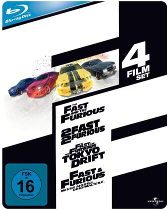 The Fast and the Furious 1-4 (Steelbook, 4 Blu-ray)