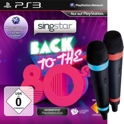 Singstar Back to the 80's Bundle inkl. wireless Singstar Mics