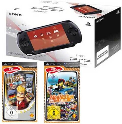 PSP Konsole E1004 + ModNation Racers Buzz Deutschland Super Quiz