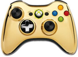 Xbox 360 Wireless Chrome Controller Gold