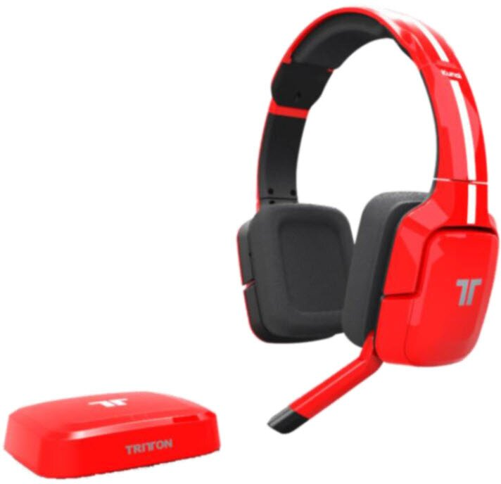 Kunai Wireless Universal Stereo Headset - red [PS4/PS3/X360/WiiU/Mobile/PC]