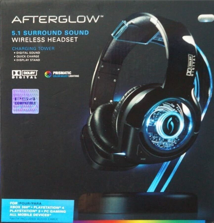 Afterglow 5.1 Surround Sound Wireless Headset [PS4/PS3/X360/PC/Mobile]