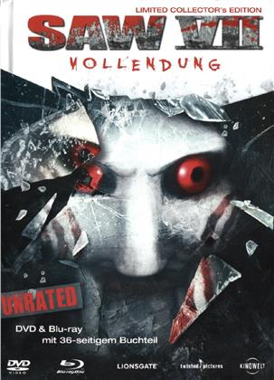 Saw 7 - Vollendung (2010) (Limited Collector's Edition, Mediabook, Unrated, Blu-ray + DVD)