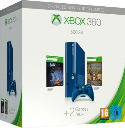 XBOX 360 Konsole 500 GB + Max:Curse of Brotherhood + Toy Soldiers