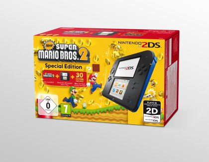 2DS Konsole Black/Blue + New Super Mario Bros 2 (Limited Edition Pack)