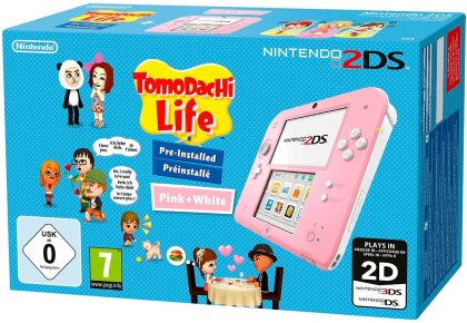 2DS Konsole Pinkwhite + Tomodatchi (Limited Edition Pack)