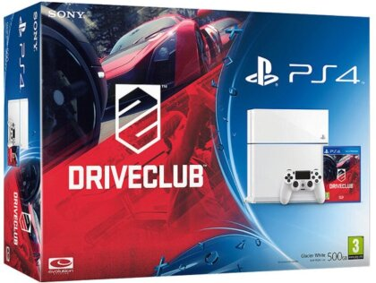 Sony PlayStation 4 Konsole 500 GB (White) inklusive DriveClub