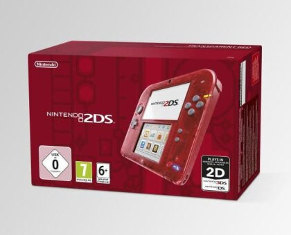 2DS Konsole Transparent Red