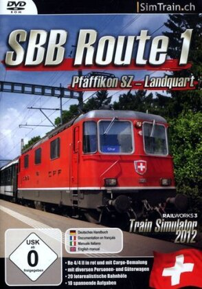 SBB Route 1: Pfäffikon SZ - Landquart TrainSim 2017 RailW. [Add-On]