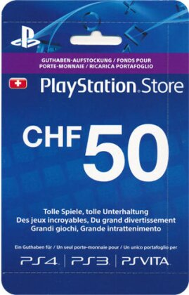 PSN Playstation Network Live Card CHF 50 for PS4, PS3, PSVita - PSP