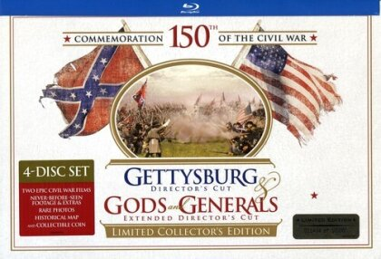 Gettysburg / Gods and Generals (Director's Cut, Limited Edition, Blu-ray + Buch)