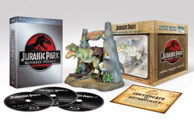 Jurassic Park Ultimate Trilogy (Collector's Edition, 3 Blu-rays)