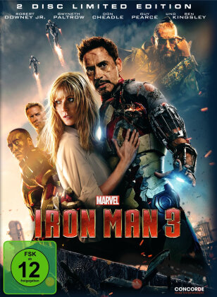 Iron Man 3 (2013) (Limited Edition, Steelbook, 2 DVDs)