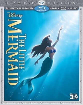 The little Mermaid (1989) (Diamond Edition, Blu-ray 3D + Blu-ray + DVD)