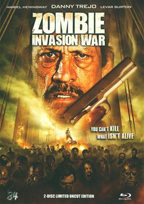Zombie Invasion War (2012) (Limited Edition, Mediabook, Uncut, Blu-ray 3D + Blu-ray + DVD)