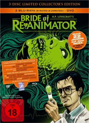 Bride of Re-Animator (1989) (R-Rated Version, Collector's Edition, Limited Edition, Mediabook, Uncut, Unrated, 2 Blu-rays + DVD)