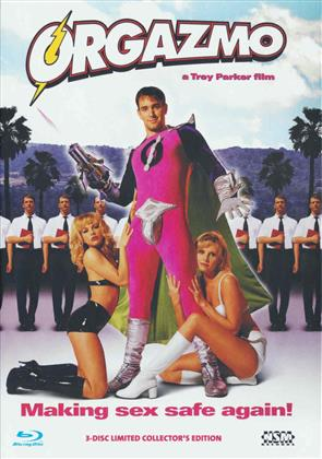 Orgazmo (1997) (Cover A, Collector's Edition, Limited Edition, Mediabook, Uncut, Blu-ray + 2 DVDs)