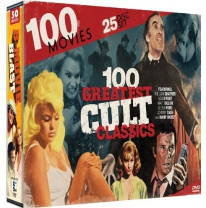 100 Greatest Cult Classics Collection (25 DVDs)
