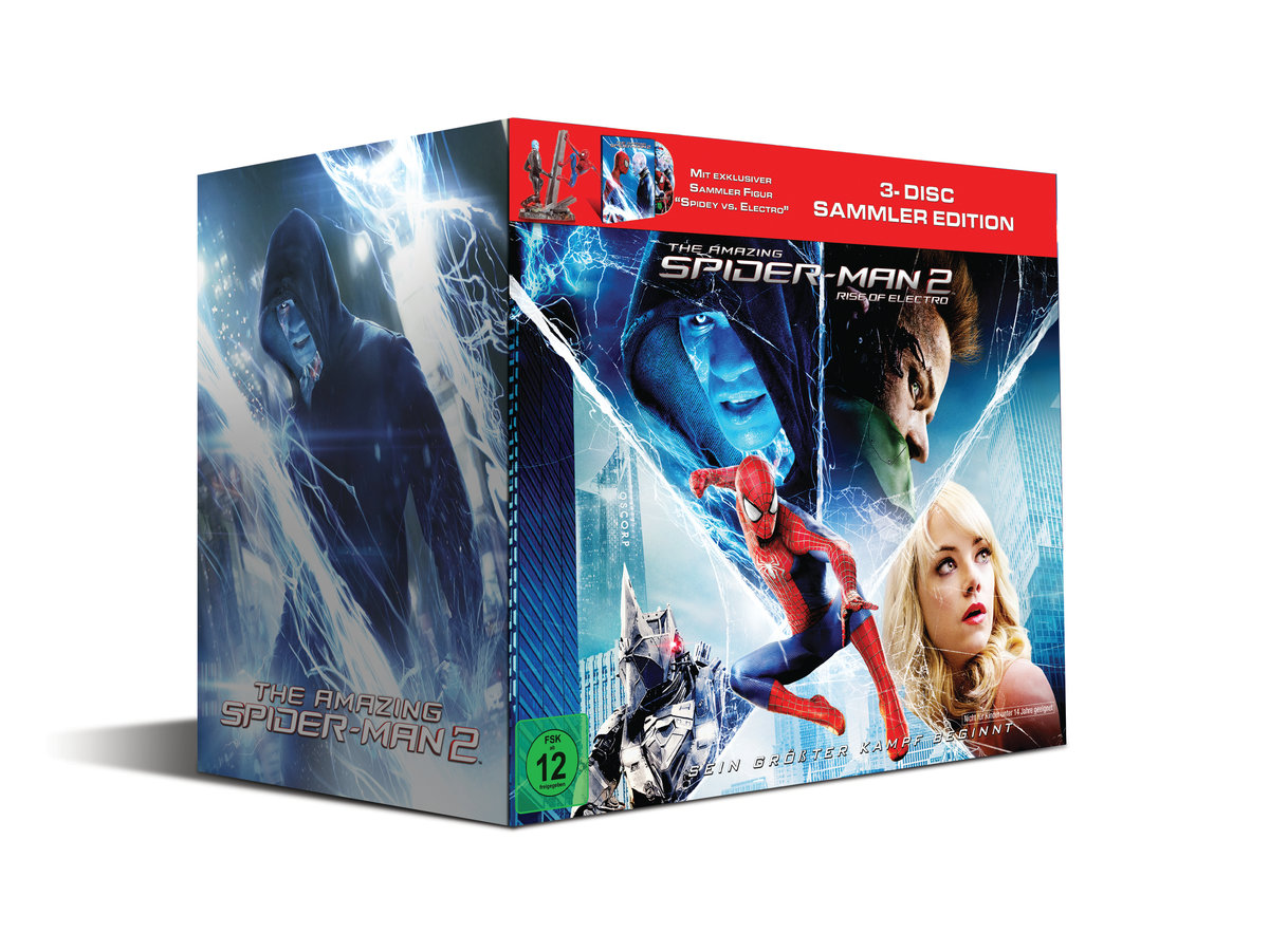 The Amazing Spider-Man 2 3D (2014) - Rise of Electro (Spidey vs. Electro Sammleredition inkl. Statue, Blu-ray 3D & 2 Blu-rays)