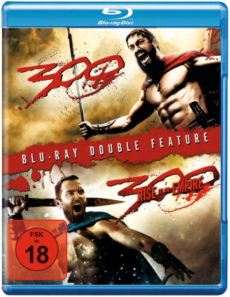 300 (2006) / 300 - Rise of an Empire (2013) (Double Feature, 2 Blu-rays)