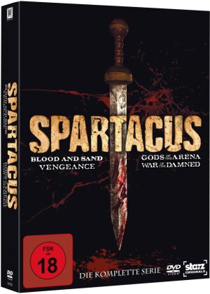 Spartacus - Blood and Sand / Gods of the Arena / Vengeance / War of the Damned - Die komplette Serie (16 DVDs)