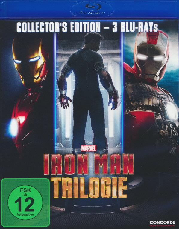 Iron Man Trilogie (Collector's Edition, 3 Blu-rays)