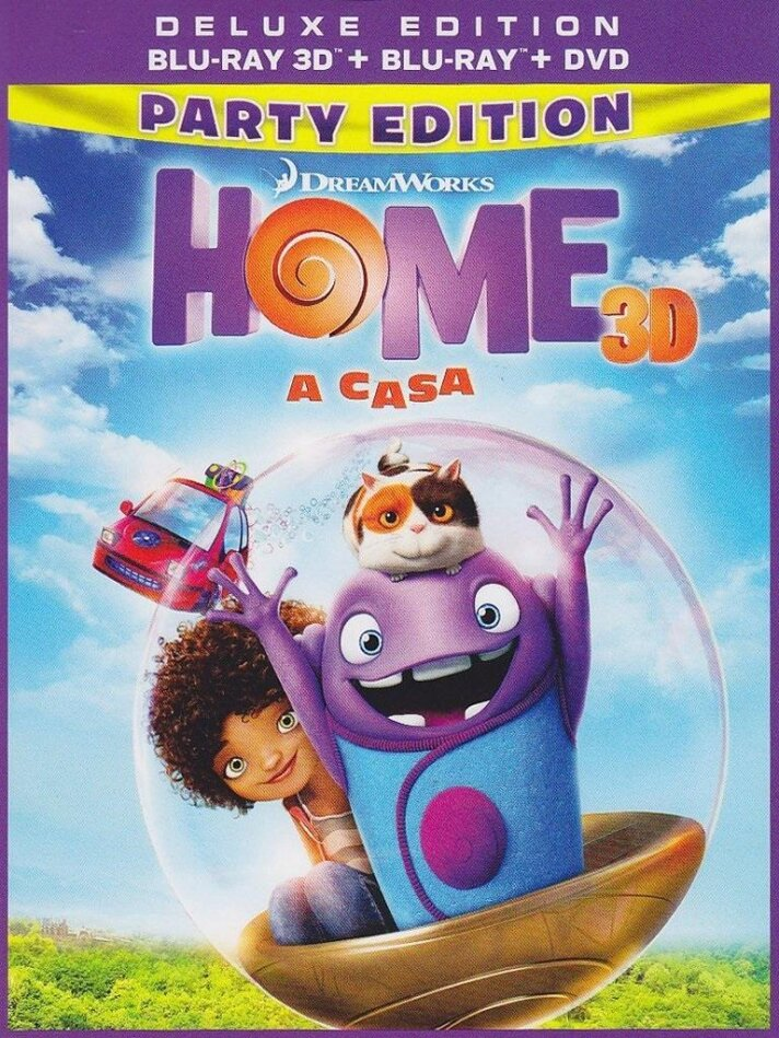 Home - A Casa (2015) (Deluxe Edition, Blu-ray 3D + Blu-ray + DVD)