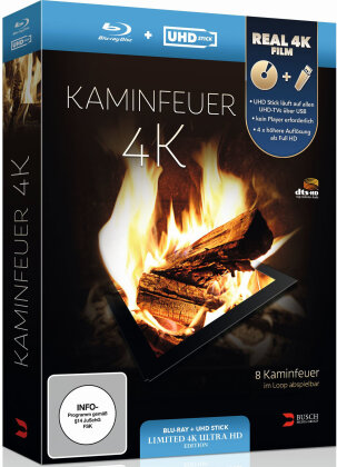 Kaminfeuer - (Limited Edition: UHD Stick in Real 4K + Blu-ray)