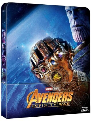 Avengers 3 - Infinity War (2018) (Limited Edition, Steelbook, Blu-ray 3D + Blu-ray)
