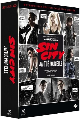 Sin City 2 - J'ai tué pour elle (2014) (Edition Collector, Limited Edition, Blu-ray 3D (+2D) + DVD + CD)