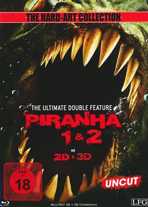 Piranha 3D (2010) / Piranha 2 - 3D (2012) (Cover D, Limited Edition, Mediabook, Uncut)