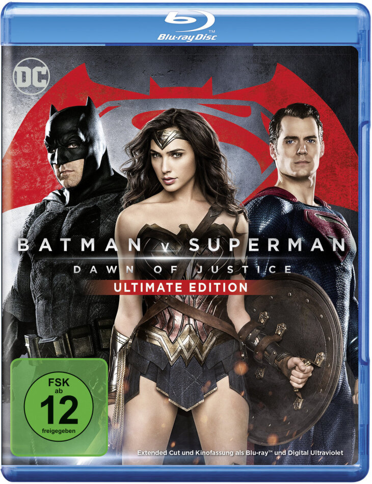 Batman v Superman - Dawn of Justice (2016) (Extended Edition, Kinoversion, Ultimate Edition, 2 Blu-rays)