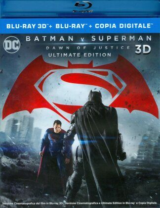 Batman v Superman - Dawn of Justice (2016) (Extended Cut, Kinoversion, Ultimate Edition, Blu-ray 3D + 2 Blu-rays)