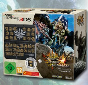 New Nintendo 3DS Bundle - Monster Hunter 4 Ultimate + Coverplate