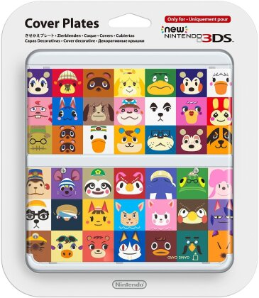 New 3DS Cover 027 Animal Crossing-Gesichter