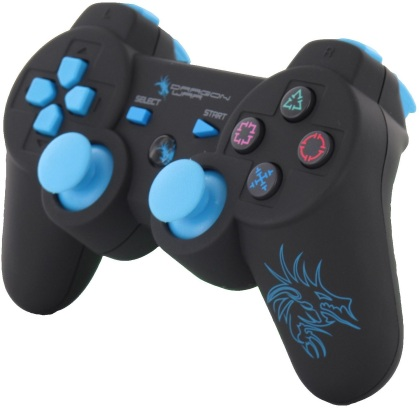 Dragon Shock Bluetooth PS3 Controller - black/blue