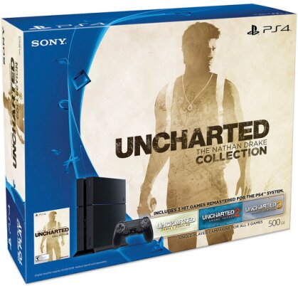 Sony Playstaion 4 500GB + Uncharted Collection