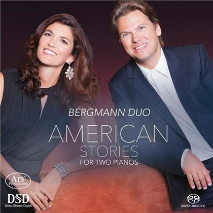 Bergmann Duo, Chick Corea, Leonard Bernstein (1918-1990), Pat Metheny, Astor Piazzolla (1921-1992), … - American Stories For Two Pianos (Hybrid SACD)
