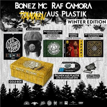 Bonez MC & Raf Camora - Palmen Aus Plastik - Limited Winteredition Gold-Box incl. Wintermütze, Kalender & Duftbaum (5 CDs + DVD)