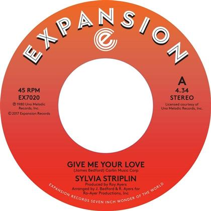 "Sylvia Striplin - Give Me Your Love/You Can't Turn Me Away - 7 Inch (7"" Single)"