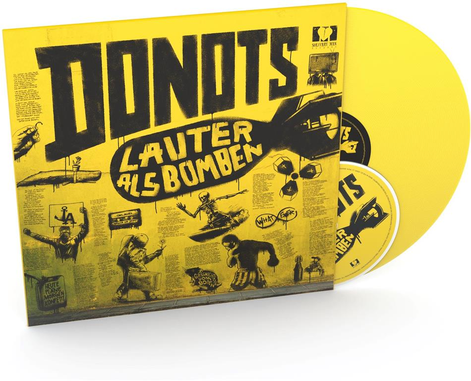 Donots - Lauter Als Bomben - Yellow Vinyl (Colored, LP + CD)