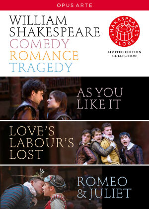 Shakespeare - Comedy, Romance, Tragedy - Globe Theatre (Opus Arte, Shakespeare's Globe, Limited Edition, 4 DVDs) - Globe Theatre