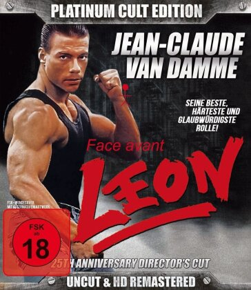 Leon (Van Damme) (1990) (25th Anniversary Edition, Director's Cut, Platinum Edition, Uncut, Blu-ray + 2 DVDs)