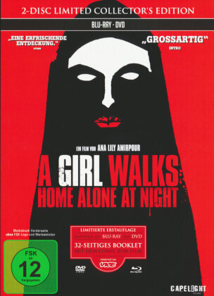 A Girl Walks Home Alone At Night (2014) (s/w, Collector's Edition, Limited Edition, Mediabook, Blu-ray + DVD)