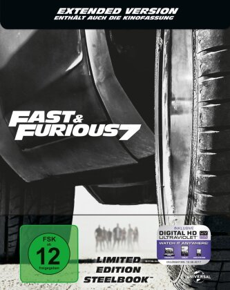 Fast & Furious 7 (2015) (Extended Edition, Kinoversion, Limited Edition, Steelbook)