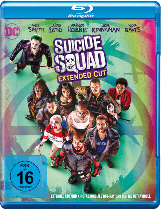Suicide Squad (2016) (Extended Cut, Kinoversion, 2 Blu-rays)
