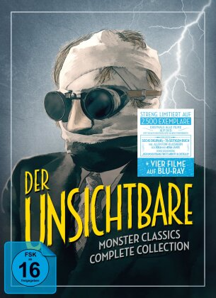 Der Unsichtbare - Monster Classics - Complete Collection (s/w, Limited Edition, 2 Blu-rays + 6 DVDs)